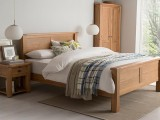 Breeze Bed Collection WHITE OAK & OAK VENEER